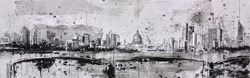 Waterloo Bridge and St Paul's II by Tim Steward -  sized 43x14 inches. Available from Whitewall Galleries